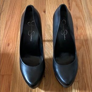 Jessica Simpson Shoes - Jessica Simpson Leather Platform Heels